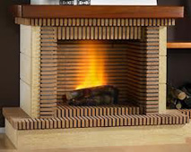 Brick fireplace refractory