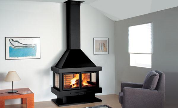 une chaleur douce et puissante avec une chemin e frontale pour un prix tr s bas. Black Bedroom Furniture Sets. Home Design Ideas