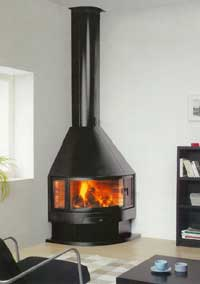 Fireplace Corner Or Angle With Open Fireplace Stove Or