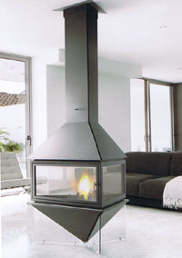 central fireplace 27