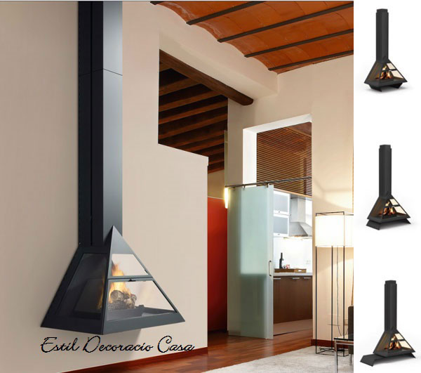 chemin e gaz foyer de face foyer ferm suspendue en forme de triangle chemin es au gaz pas ch re. Black Bedroom Furniture Sets. Home Design Ideas