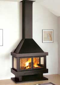 continuous fire wall fireplace
