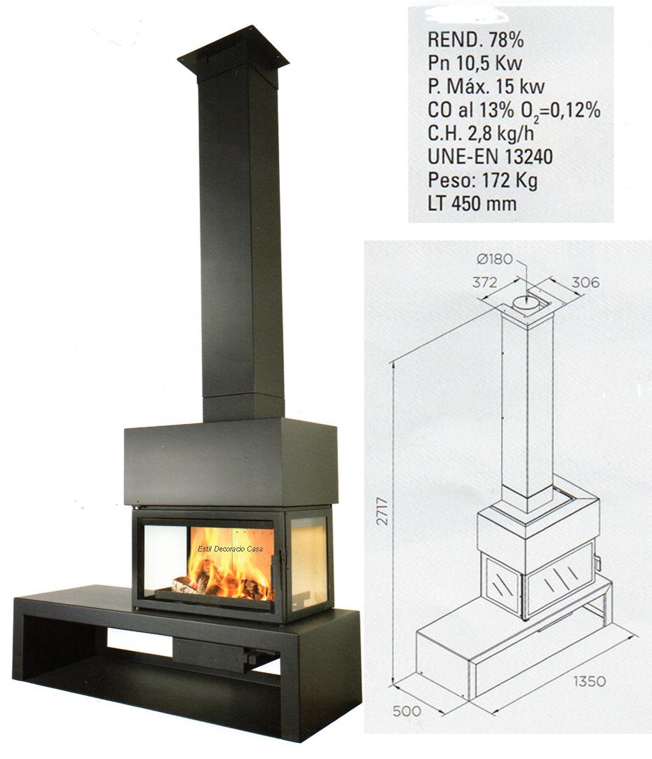 cheminée face LL15D