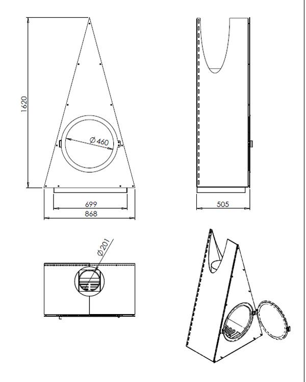 cheminée gaz design 110-2
