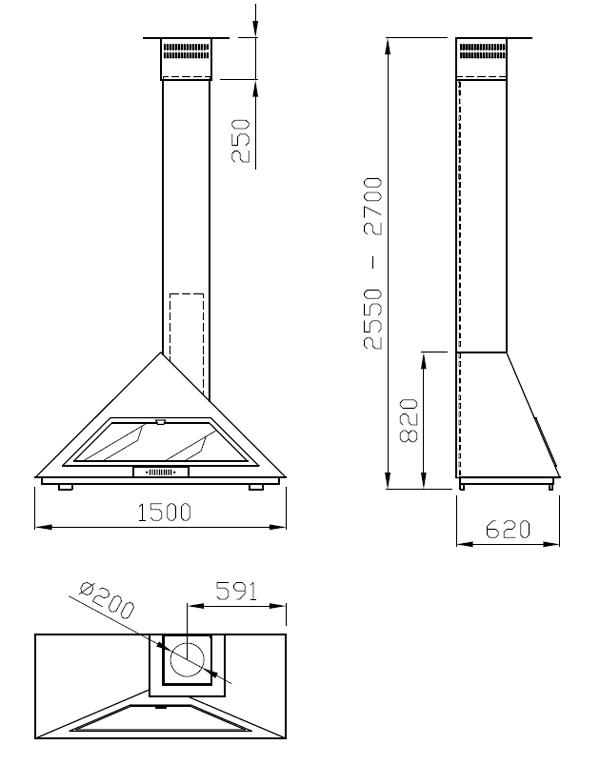 cheminée à gaz murale 95-2