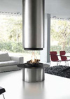chemin e de centrale gaz avec 4 vitres br leur et foyer gaz. Black Bedroom Furniture Sets. Home Design Ideas