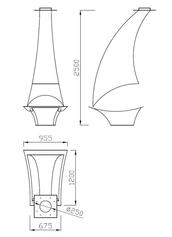 cheminée gaz axiale 101-3