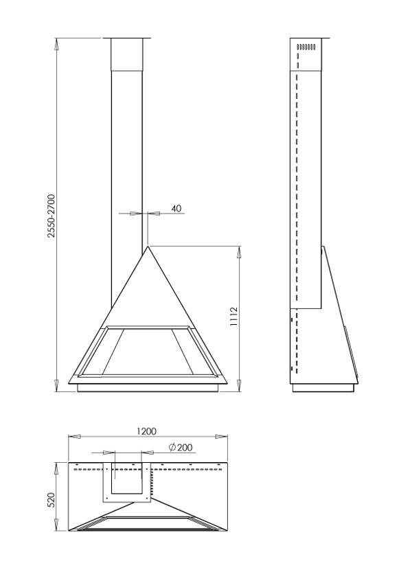 cheminée gaz de face 103-2