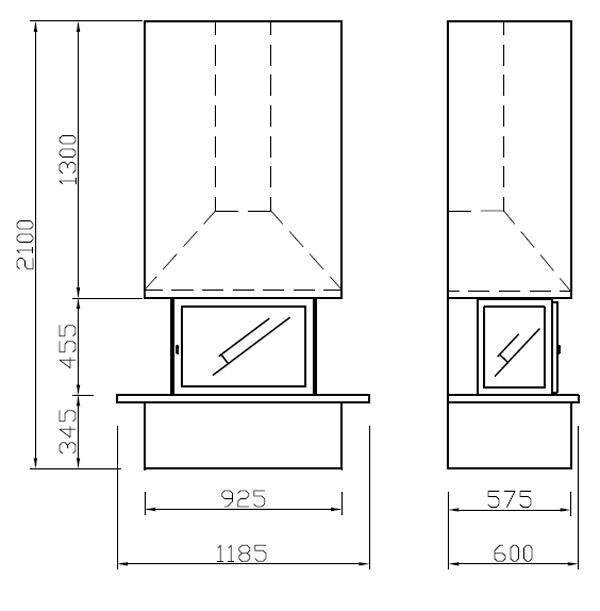 cheminée gaz insert 106-2