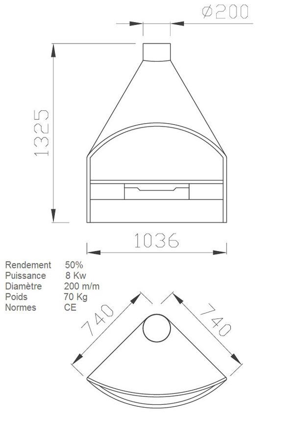 cheminée angle 113-3
