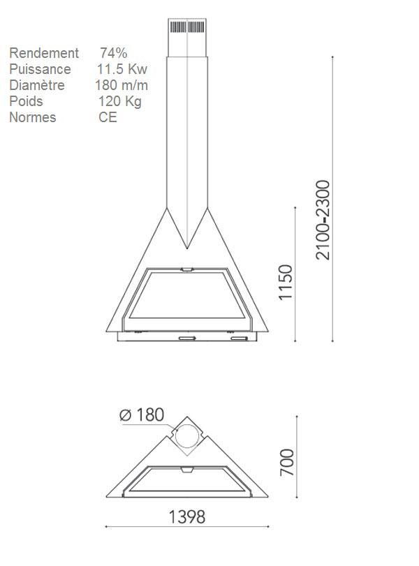cheminée angle 114