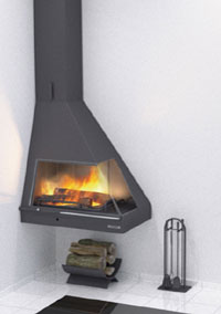 fireplaces suspended angle 115