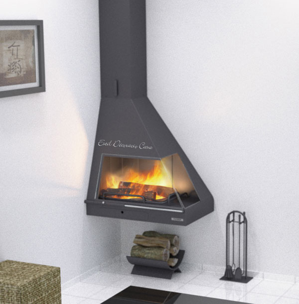 chemin e d 39 angle suspendue contemporaine avec une vraie puissance de chauffe chemin e prix angle. Black Bedroom Furniture Sets. Home Design Ideas