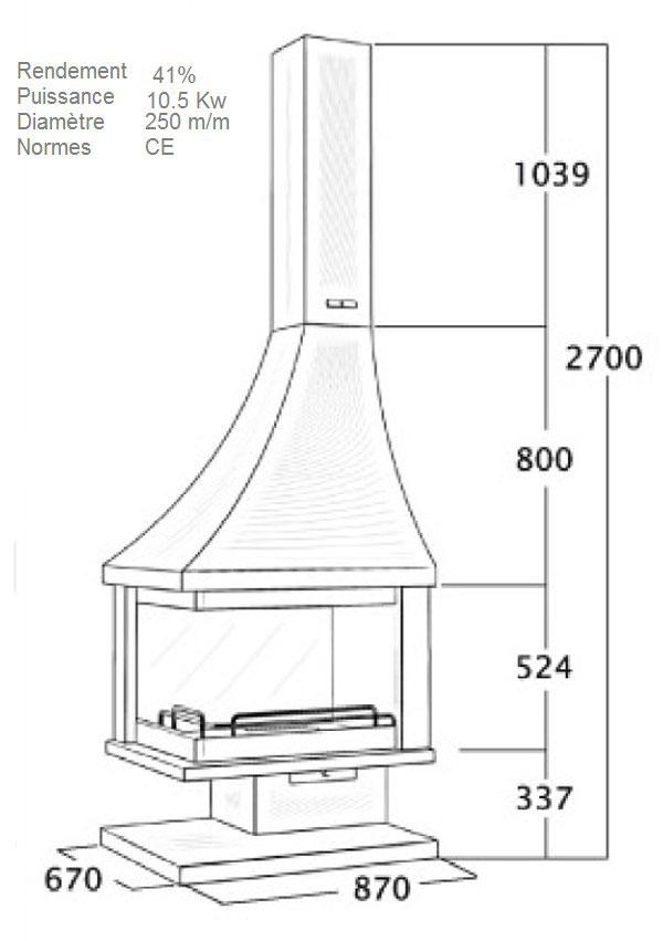 cheminée angle 116-3