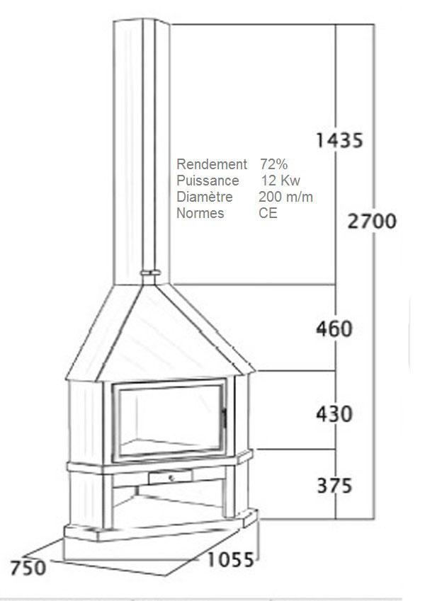 cheminée angle 118-3