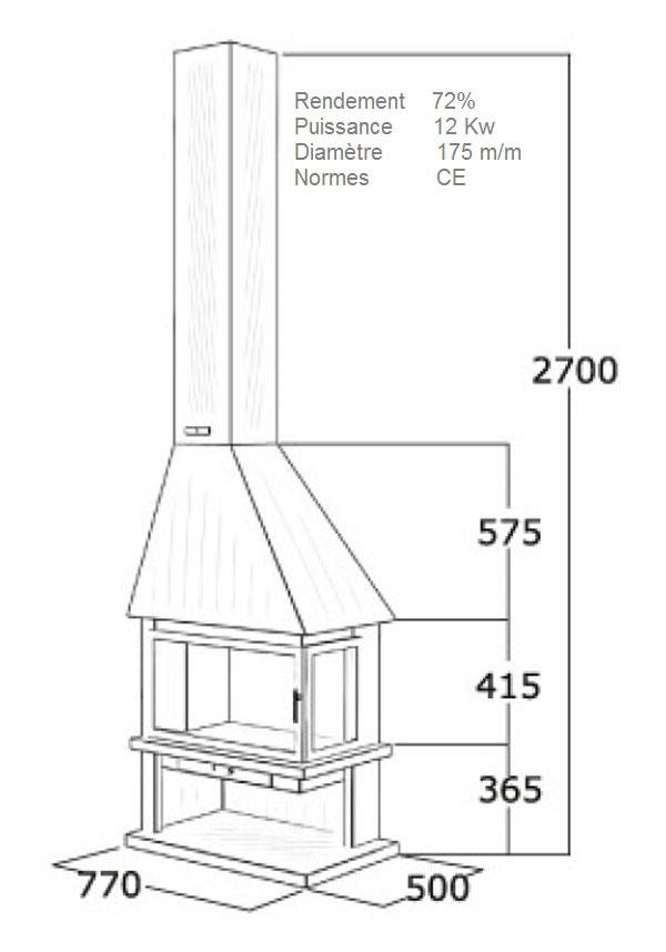 cheminée angle 121-3