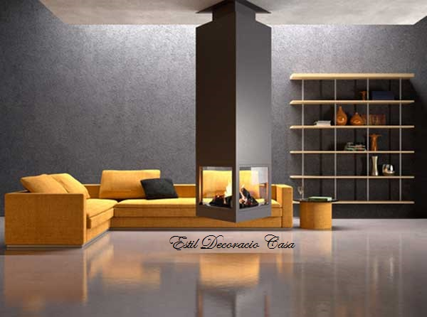 chemin e centrale suspendue triangulaire au bois une chemin e centrale prix brad. Black Bedroom Furniture Sets. Home Design Ideas