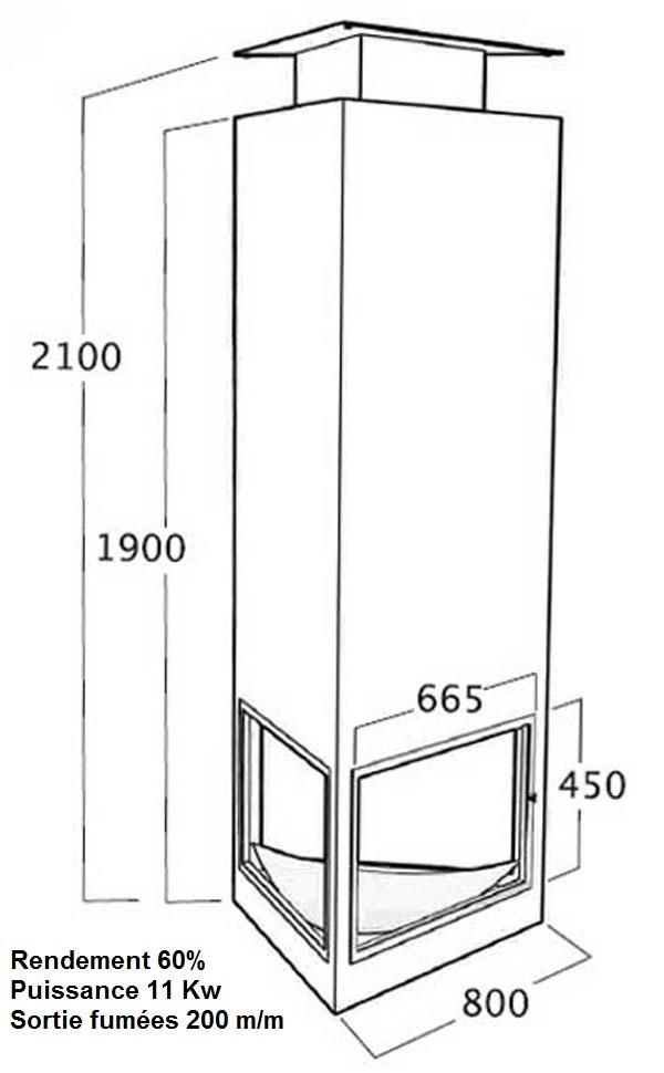 chemin e centrale suspendue triangulaire au bois une chemin e centrale prix brad. Black Bedroom Furniture Sets. Home Design Ideas