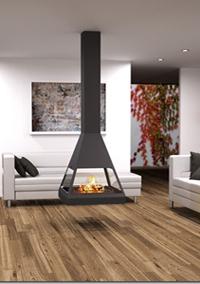 chemin e centrale pas cher pour voir le feu au centre d 39 une pi ce. Black Bedroom Furniture Sets. Home Design Ideas