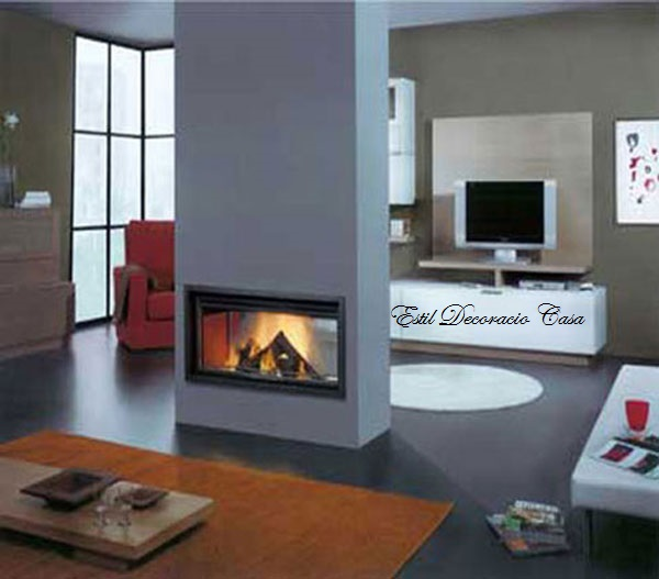 insert bois vision du feu sur 2 c t s foyer insert double face insert prix double face. Black Bedroom Furniture Sets. Home Design Ideas