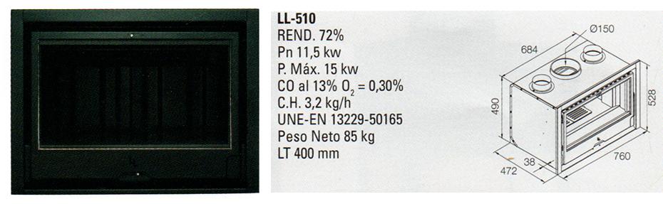 insert bois encastrable LL 510