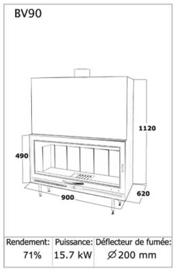 large insert de face ou mural pour grandes b ches grand insert pas cher. Black Bedroom Furniture Sets. Home Design Ideas