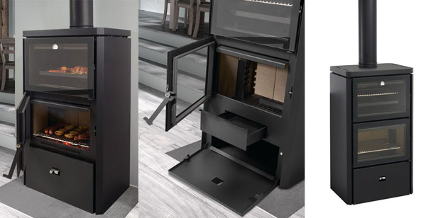 enfin un po le bois avec un largefoyer et un four. Black Bedroom Furniture Sets. Home Design Ideas